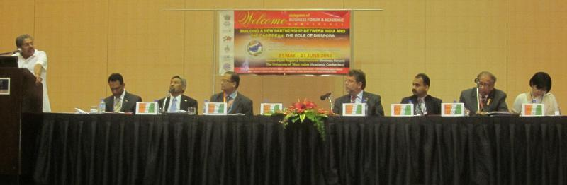 Inaugural Session of Business Forum, T&T GOPIO Meeting, May 2011