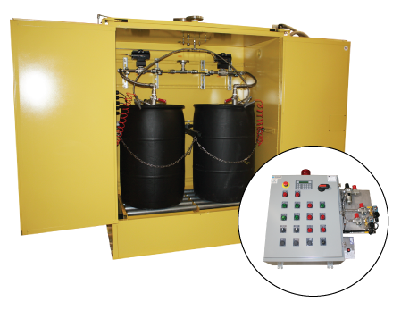 Solvent Cabinet With Panel