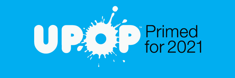 UPOP Primed Blue Background