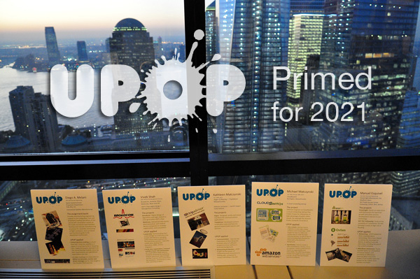 UPOP Logo on NY Skyline
