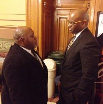 Rep. Greg Porter and Sanford Garner, AIA