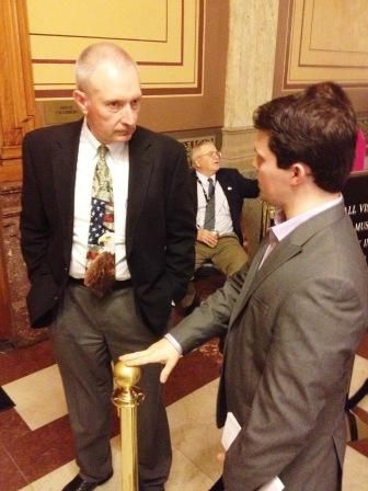 Rep. Thompson and Dan Overbey, AIA