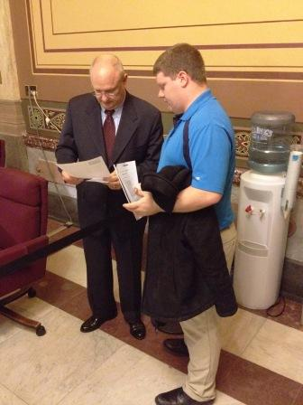 Sen. Kenley and Jeremy Stroebel