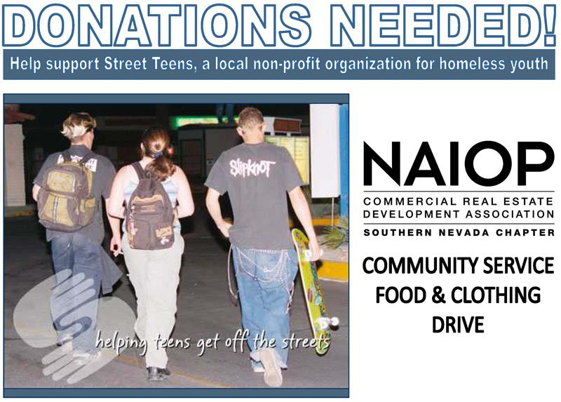 Street Teens Food & Clothing Drive at July Breakfast