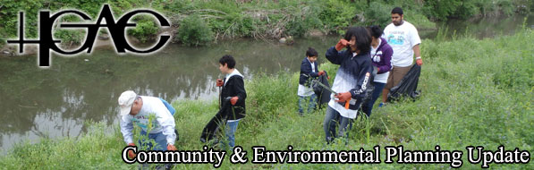 March 2015 Banner - Volunteers collect trash at Moody Park during Trash Bash 2014.