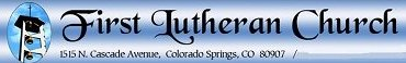 First Lutheran Church of Colorado Springs banner