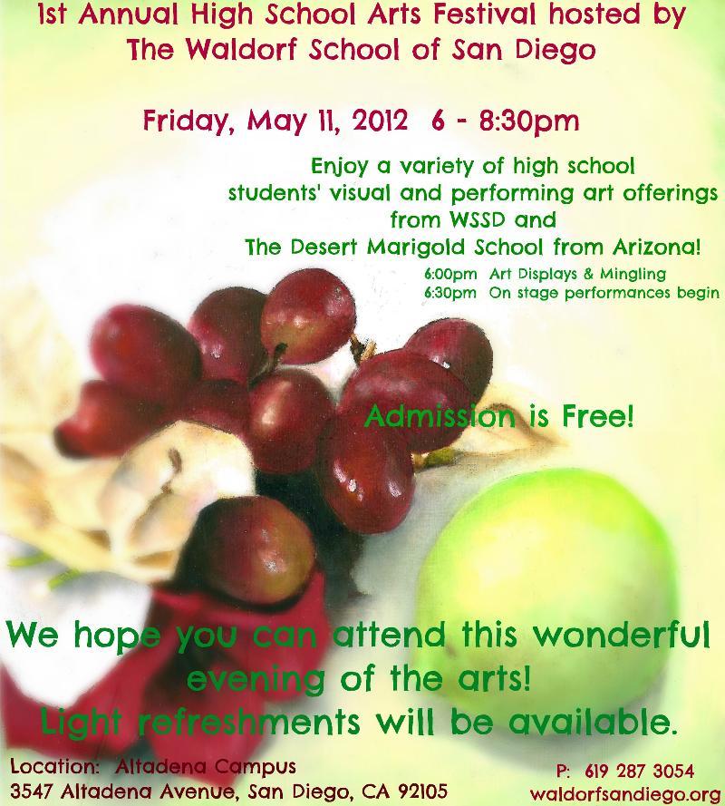 High School Arts Festival Flyer 2012