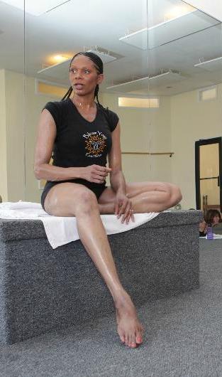Steph sitting on podium