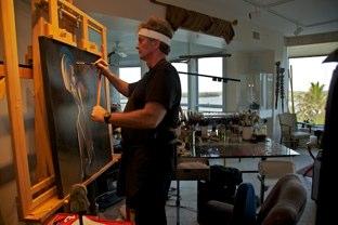 Nicholas Petrucci in his Studio