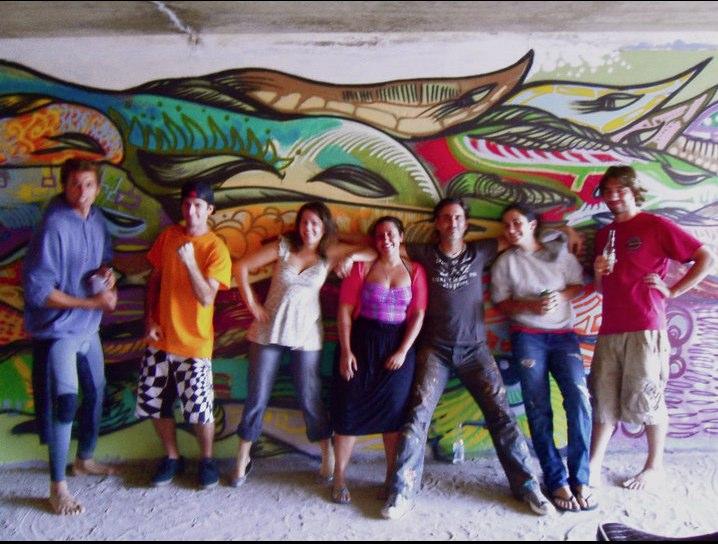 Team West Gilgo Beach Tunnel Mural ©2011 Bragino Corcoran
