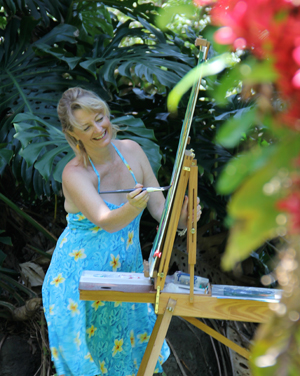 Patrice at Easel
