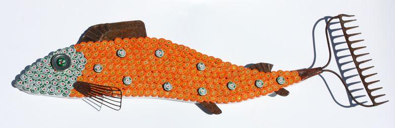 BottleCap Fish Mosaic No. 50