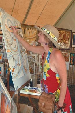 Patrice at Haleiwa Arts Festival