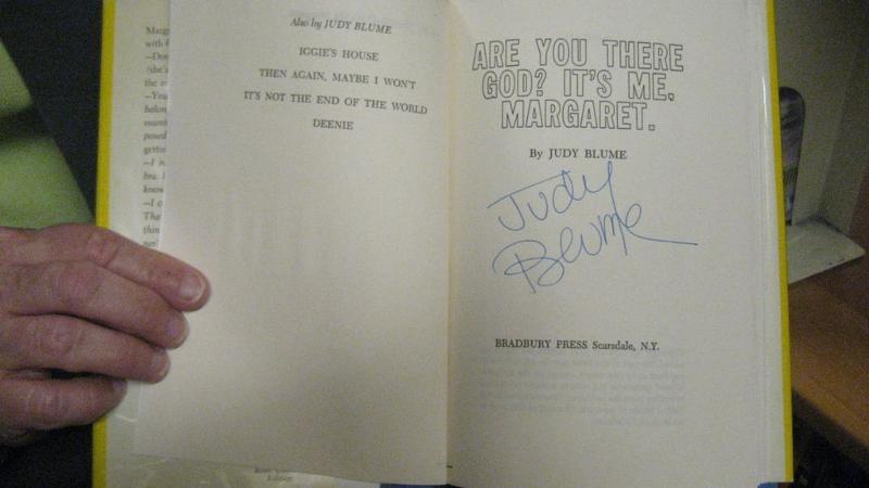 Judy Blume Autograph