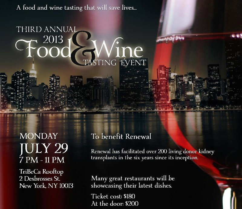 Renewal Food & Wine Tasting Event