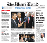 Herald International Edition Front Pg Shot