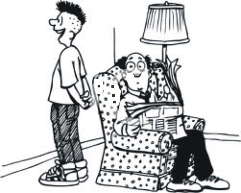 Cartoon of father son