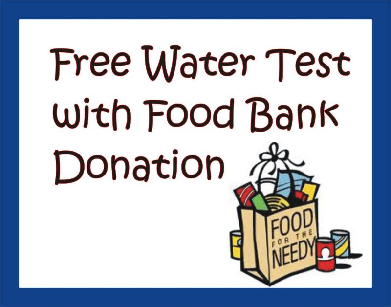 Free Water Test With Food Bank Donation