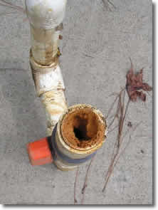 iron clogged pipe