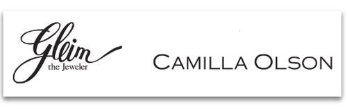 Gleim The Jeweler & Camilla Olson logos