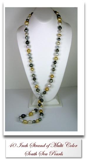 Multi Color South Sea Pearl Necklace