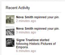Pinterest Activity