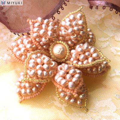 made with new Miyuki baroque pearl seed beads