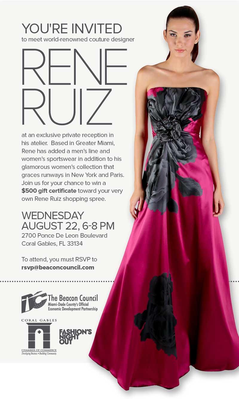 LAST CHANCE TO RSVP | Rene Ruiz | Wednesday, Aug. 22 | 6-8pm