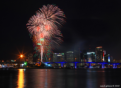 fireworks downtown miami florida