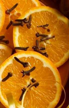 Orange with clove