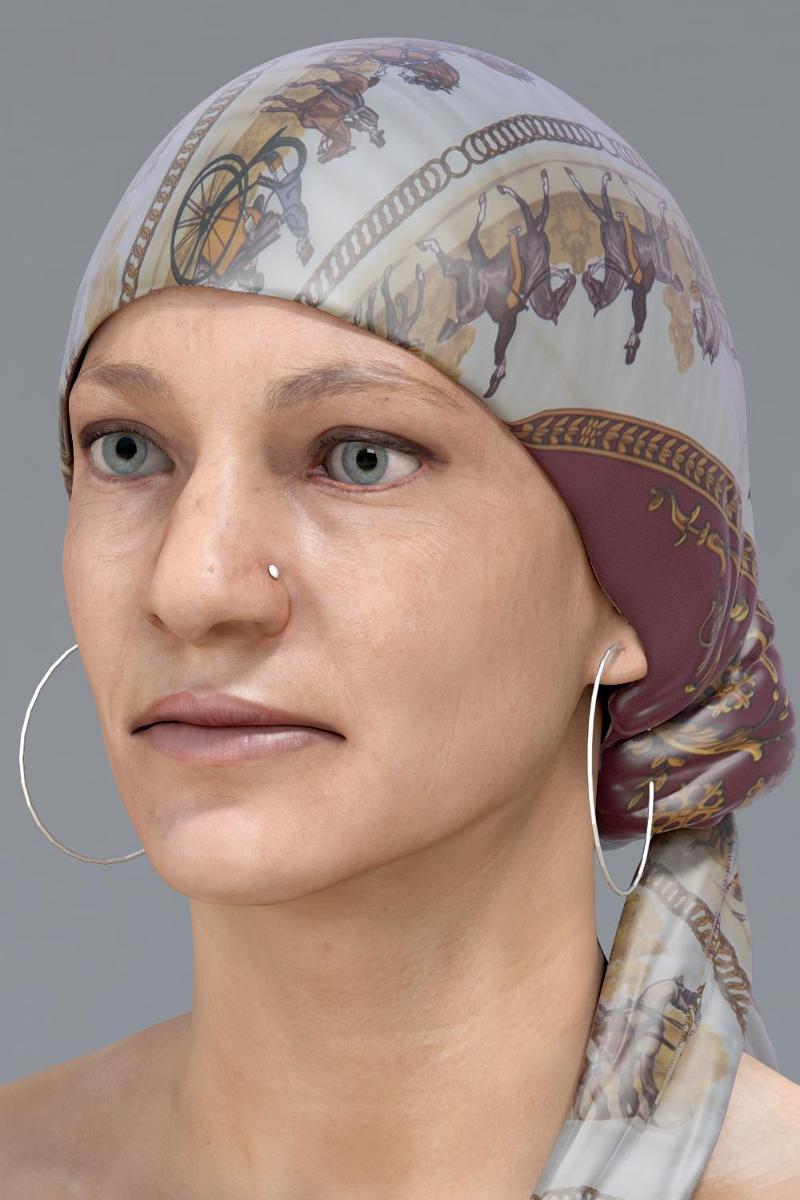 3d scanned head