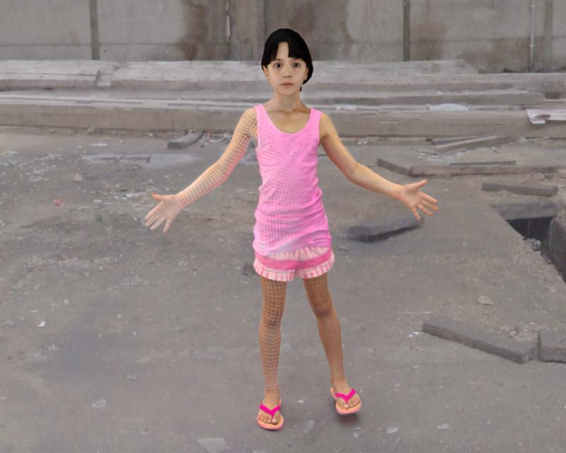 3D Scan of 8 year old girl.