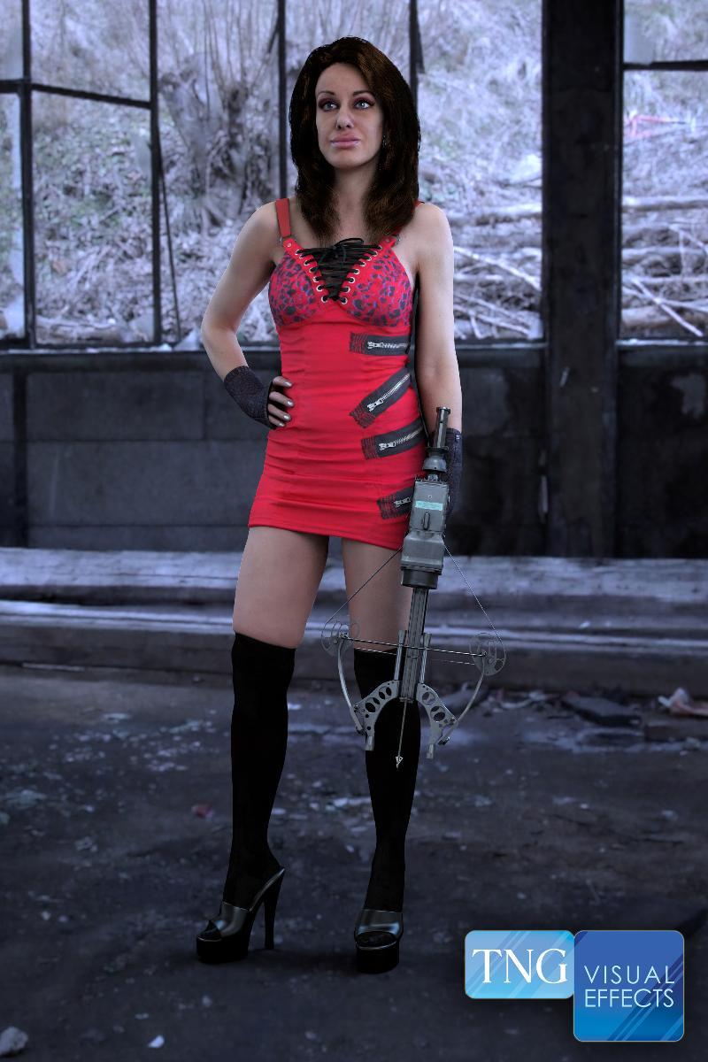 Nina with Crossbow