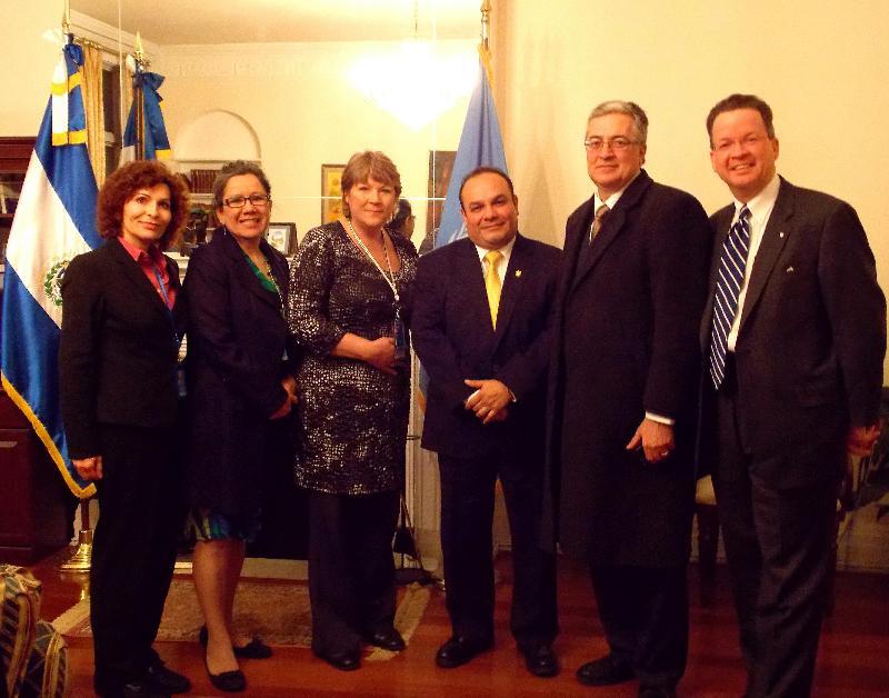Sam Casey meeting with the UN Ambassador from El Salvador