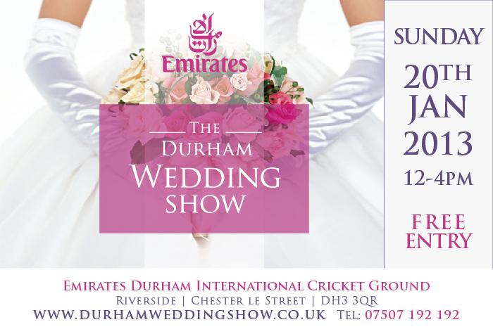 Durham Wedding Show BANNER 20th Jan 13