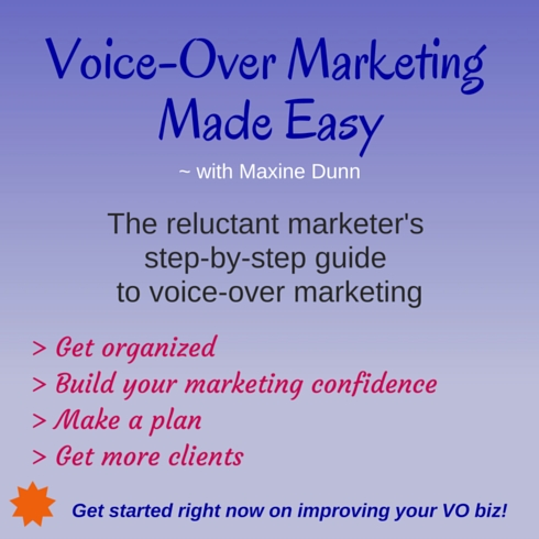 Voice-Over Marketing Made Easy with Maxine Dunn