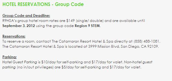 Hotel Reservation Group Code