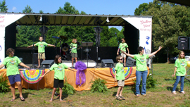 VBS group preforms at festival