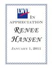 Renee Hansen certificate