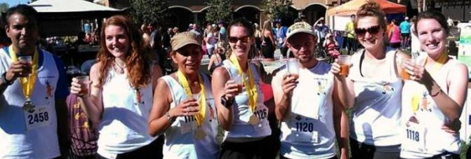 Team Gerson revives with carrot juice after the race