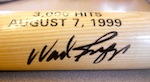 Wade Boggs signed bat