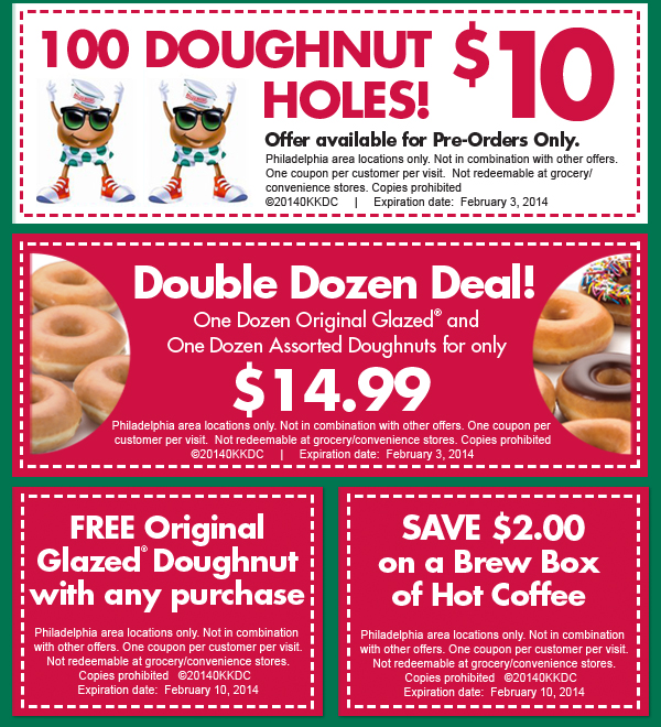 Krispy Kreme has a pretty sweet deal (pun intended) going on until Valentine's Day (February 14): along with the return of their heart-shaped donuts, they're offering a promotion where you'll get 12 Valentine's Day Cards when you buy any dozen donuts (while supplies last at participating stores).