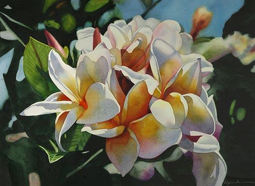 Painting Tropical Flowers August 2014 Watercolor Workshop