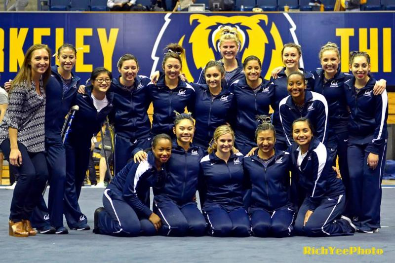 Cal Women's gymnastic team - 1-2015