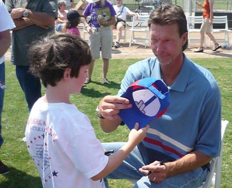 Randy Johnson and Ross' son