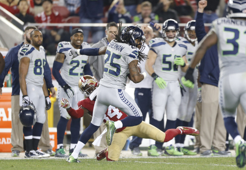 Michael Zagaris - 49ers - Sherman - 2014