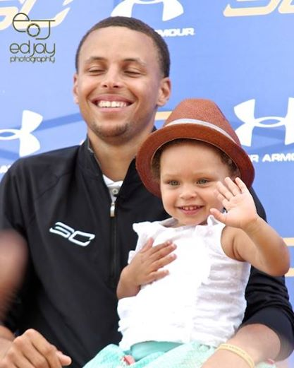 Steph Curry and daughter - 1-2015