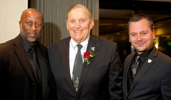 Arif - HOF - 2-2015 - Jim Otto, Mike Taylor and Panos Pappas
