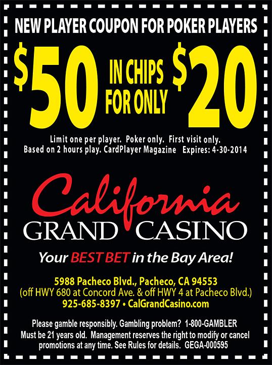 California Grand Casino - NEW - 1-2015