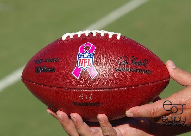 Ed Jay - Raiders - breast cancer game - 2014